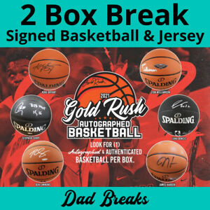 CLEVELAND CAVALIERS autographed Gold Rush basketball + signed jersey 2 BOX BREAK
