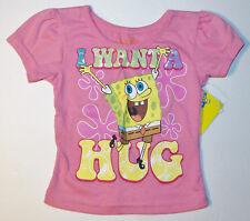 Nickelodeon Spongebob Toddler Girls T-shirts I Want A Hug Sizes 12M 18M 2T NWT