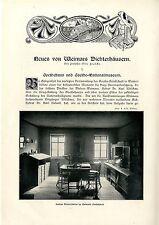 Prof. otto FRANKE weimars poeta CASE Goethe casa-museo Schiller casa ti... 1909
