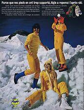 Publicité Advertising 016 1972 Aigle chaussures après-ski en skilon