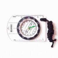 LumiParty Professional Mini Compass Map brujula bussola Survival Camping Hiking