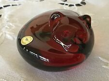 Lead Crystal Red Fox paperweight - Germany