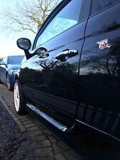 Abarth 595 500 Série 4 Fibre de Carbone Style bandes latérales autocollants/stickers