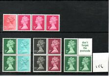 GB - MACHIN  (156) - BOOKLET & /or COIL STAMPS -  selection - mint