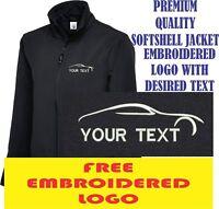 Personalised Embroidered Softshell Jacket AUTO SERVICE workwear UNIFORM LOGO