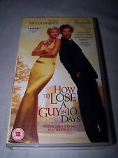 How To Lose A Guy In 10 Days (VHS, 2003)