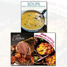 Slow Cooker Recipes Collection Soups,Curries and Spicy Dishes 3 Books Set NEW