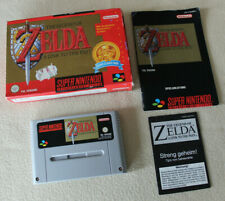 The Legend of Zelda-a link to the Past con embalaje original (Nintendo SNES, PAL Versión)