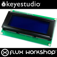 Keyestudio 20x4 Blue LCD with I2C Interface KS-062 2004A HD44780 Flux Workshop