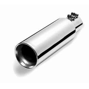 Gibson 500421 Stainless Steel Double Walled Angle Exhaust Tip - Universal NEW