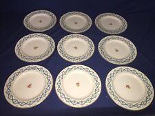 "9 Coalport Ribbon 6337 Bone China 8 5/8"" Luncheon Plates ~ Excellent"