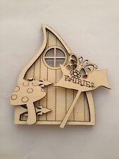 Wooden Laser cut Gothic Fairy door set Wholesale Pack 30 Pixie/Elf Craft Blanks