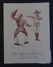 Ancienne invitation assaut 22 décembre1897 Ecole d'escrime fencing scherma Paris