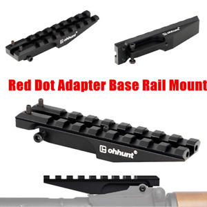 ohhunt Hunting Rear Sight 20mm Picatinny Rail Scope Mount Red Dot Adapter Base