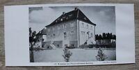 1 Blatt 1929 Bamberg Oberpostdirektion Wohnhaus Architektur Haus Ofr 23x10cm