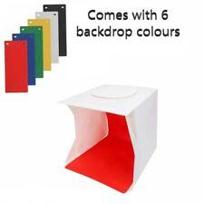 LED Photo Studio Lighting Mini Box Portable Photography Backdrop Light box Tent