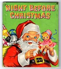 NIGHT BEFORE CHRISTMAS ~ vintage childrens Whitman Tell-A-Tale Book, Ruth Newton