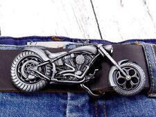 Chopper Biker 3D Classic Bike Motorrad Gürtelschnalle Wechselschnalle Buckle
