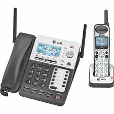 AT&T SynJ SB67138 Cordless Phone - DECT - Black, Silver - 4 x Phone Line -