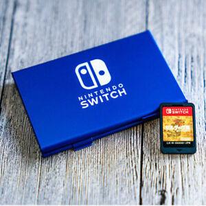 6-Slots Aluminium Metal Game Card Cartridge Case Storage Box for Nintendo Switch
