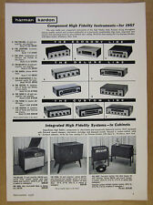 1957 Harman Kardon Amplifiers Tuners Receivers Hi-Fi Systems vintage print Ad