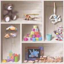 Debona Kids Playroom Glitter Motif Wallpaper Teddy Bear Train Rabbit Toys 6350