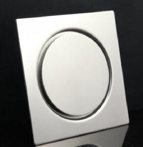 UK SELLER 150x150mm STAINLESS STEEL SQUARE SHOWER BATHROOM FLOOR DRAIN WET ROOM
