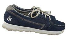 Skechers On The Go Gogamat Boat Shoes Women's 9.5 Blue Denim