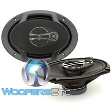 "ALPINE SPJ-691C3 CAR 6"" X 9"" 400W 3-WAY TITANIUM TWEETERS COAXIAL SPEAKERS NEW"