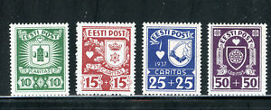 ESTONIA B32-35, 1937 CHARITY, MINT, OG, VLH   (EST001)