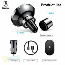 Car Mount Qi Wireless Charger For iPhone X 8 Samsung Magnetic Car Phone Holder