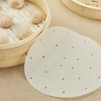 6-10inch Steamer Paper Perforated Paper Liners Rounds Steamer Paper Kitchen Nice