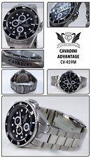Divers Cavadini GMT Full Calendar Watch 30 Bar Waterproof Solid NEW