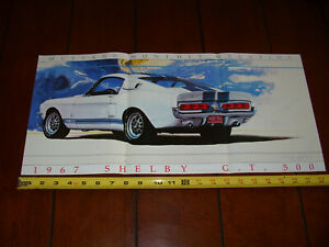 1967 SHELBY GT500 ORIGINAL 1992 POSTER / ARTICLE