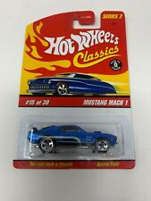 HOT WHEELS CLASSICS SERIES 2 FORD MUSTANG MACH 1 #15 *SPECTRAFLAME BLUE* 5SP
