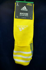 Men's Adidas Soccer Socks Crew Climalite Cushion Yellow Large NWT