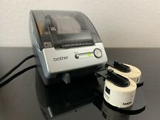 Brother P-Touch QL-500 PC Label Printer With 3 Rolls Tested Same Day Priority Sh
