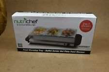 NutriChef Hot Plate Food Warmer, Buffet Server Chafing Dish Set