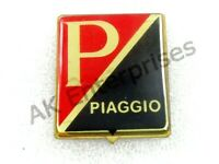 VESPA HORNCAST BADGE PIAGGIO RED / BLACK LOGO NEW BRAND