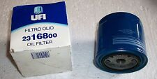 FILTRO OLIO UFI 23.168.00 FIAT 124 Spider Europa 2000 i 80-85 LANCIA FIAT IVECO