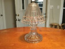 Crystal Pedestal Lamp Shade Votive Candle Holder Missing Wire for Shade