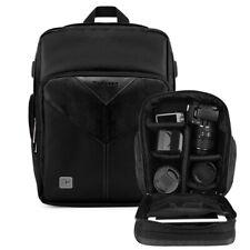 Black DSLR Camera Backpack For Canon EOS R5 / R6 / RP / 5D Mark IV / 6D Mark II