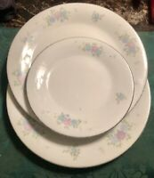 Liling LING ROSE 2 Dinner / 1 Salad Plates   Fine China   Yung Shen   Ships Free