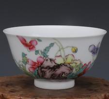 China Qianlong Qing Enamel Porcelain flower Hand Painted Bowl