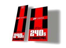 DT Swiss 240s Bicycle Hub Decal Road MTB Sticker Adhesive Set Vinyl Sheet 2 Pcs