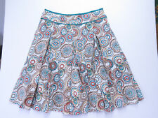 A-007 HOBBS PURE LINEN Skirt PRINTED GEOMETRIC STYLE SIZE 16 AS NEW