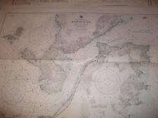 Vintage  Nautical  Maritime  Chart  ( Kammon Ko Japan 1st Edition ).