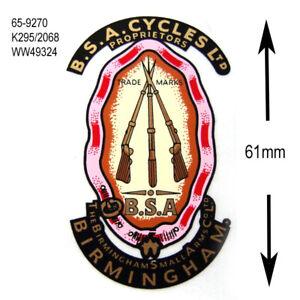 BSA piled arms decal 65-9270 k295/2068 WW49324 tansfer toolbox oiltank aufkleber