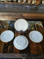 "Regency GOLD PATTERN 10.25"" Dinner Plates (lot of 4) Fine China Japan As Is Used"
