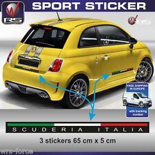 Fiat 500 sticker decal Scuderia Italia abarth tuning pegatina aufkleber FI14
